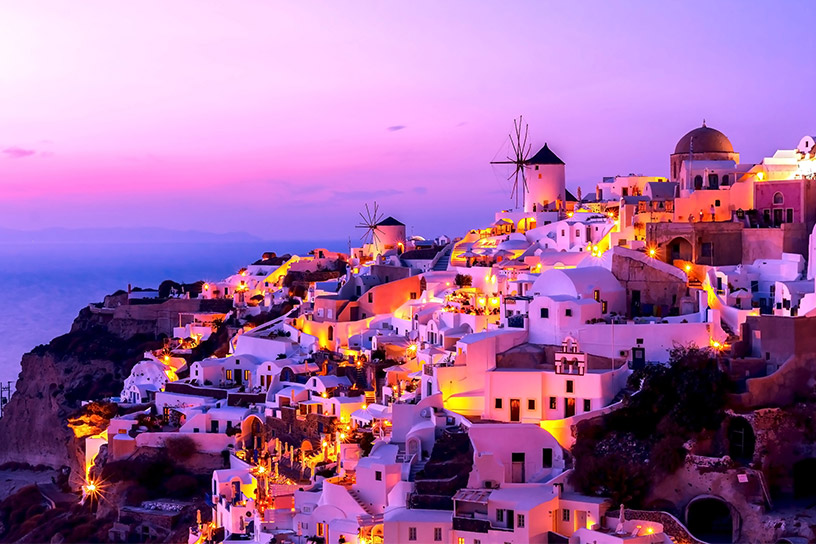 Santorini by sunset